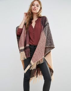Y.A.S+Mag+Poncho+in+Check