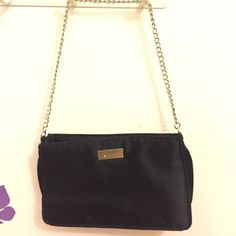 Black square hand bag One big compartment, with a smaller compartment inside. Both zipper closure. Chain handle Bags Mini Bags