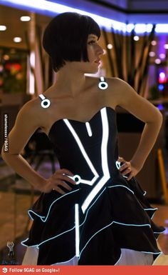 Tron Prom Dress. Where was this when I was in high school?!