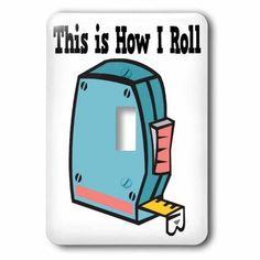 3dRose How I Roll Measuring Tape Handyman Design, Single Toggle Switch