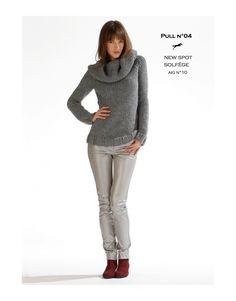 Modèle pull cb17-04 - patron tricot gratuit - Cheval blanc