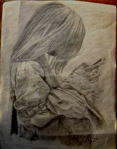 Pencil sketch. Artist: Michelle Merino