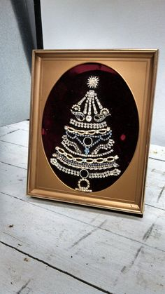 Vintage Jewelry Christmas Tree Awesome by MustyFurnitureCo on Etsy, $42.00