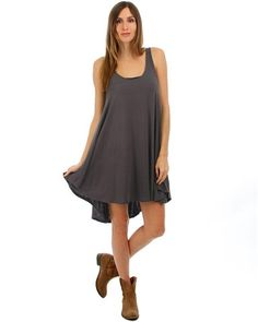 Charcoal Over-Sized Tank Dress | Home Goods Galore