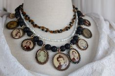 Victorian Memento Assemblage Necklace by OldNouveau on Etsy
