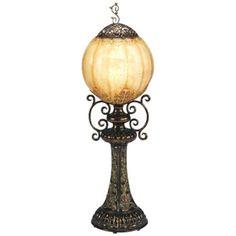 Hand-Made Antiqued Bronze Globe Accent Table Lamp - LightingLuxuryStyle.com