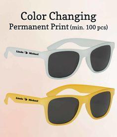 Custom Wedding Sunglasses Color Changing FREE Proofs