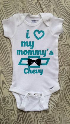 I love my mommys chevy chevy shirt by TheSewFancyBoutique