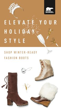 f17cc87f3296 Complete your holiday look with boots designed for winter