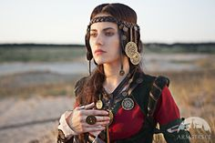 """Fantasy Leather and Brass Headpiece """"The Alchemist's daughter"""""""