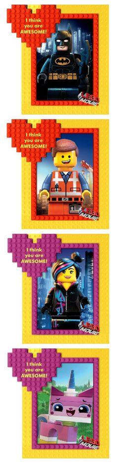 Lego Movie Valentine's Day Printables Lego Valentines, Valentine Day Love, Valentines Day Party, Valentine Day Crafts, Valentine Ideas, Holiday Crafts, Holiday Fun, Lego Movie Party, Valentine's Cards For Kids