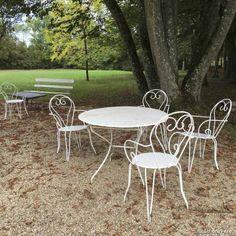 Ensemble : Table et 4 chaises de jardin pour un jardin bohem