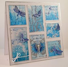 Stunning card, I love the grid (card by Suzanne Czosek). Many other beautiful cards with butterflies.