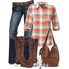 Fall outfit love the orange