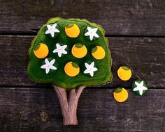 Montessori Toy--Orange Tree. Magnetic  Counting and Sorting work by AlyParrott on Etsy. Made to Order on Etsy.