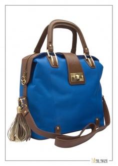 bright blue bag!