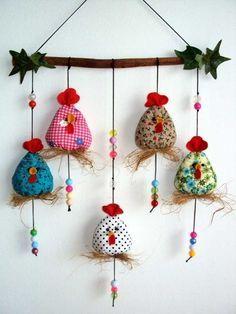 Hühner oder kleine Vögel autour du tissu déco enfant paques bébé déco mariage diy et crochet Felt Crafts, Easter Crafts, Fabric Crafts, Sewing Crafts, Diy And Crafts, Christmas Crafts, Sewing Projects, Craft Projects, Crafts For Kids