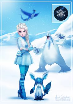 Frozen Meets Pokémon in These Gorgeous Illustrations