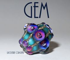 GEM Stunning & Beautiful Glass Lampwork Bead Focal by 'LuccicareLampwork' on FB and Etsy ♥≻★≺♥LOVE♥≻★≺♥