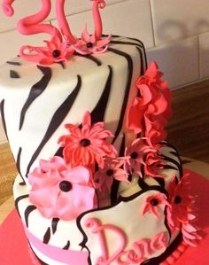 Pink zebra — Birthday Cake Photos