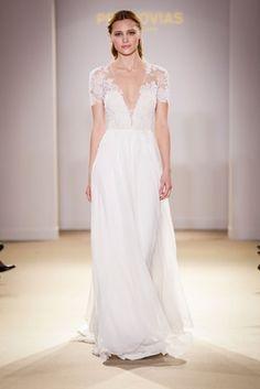 Atelier Pronovias 2019 bridal collection wedding dresses short sleeve illusion gown sheath