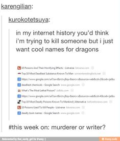This week on: murderer or writer