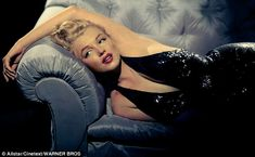 Marilyn lounges on a sofa in The Prince and the Showgirl