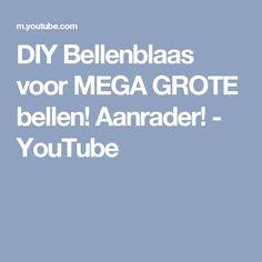DIY Bellenblaas voor MEGA GROTE bellen! Aanrader! - YouTube