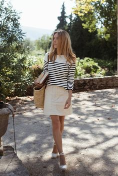 Look of The Day – Provence story Basic Outfits, Classy Outfits, Cute Outfits, Emo Outfits, Summer Outfits, Capsule Wardrobe, Preppy Style, My Style, French Style
