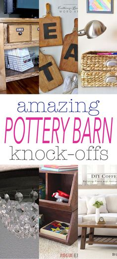 It's time for some more Amazing Pottery Barn Knock-Offs…we know you love them so we will just keep them coming!!!  All of the DIY Projects today are perfect for any home decor but really perfect for the Farmhouse Fresh look!  You will find detailed plans to build incredible furniture…a quick and easy but sensational Wall …
