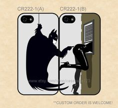 CR2221 Super Hero Catwoman and Batman Couple by casecase123