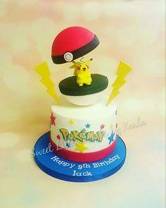 Pokemon Cake Pikachu Buttercream https://www.facebook.com/SweetLittleTreatsbyKarla/ #pokemon #pikachu #cakes