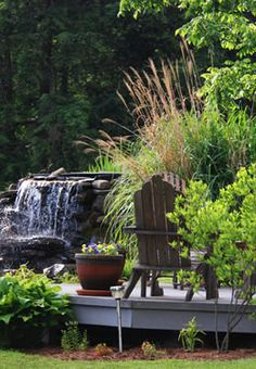 Gorgeous landscaping around Whispering Pines Bed & Breakfast in Dellroy, OH