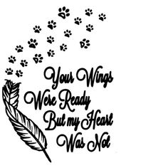 Animal Quotes, Dog Quotes, Side Tattoos, Angle Wing Tattoos, Silhouette Design, Silhouette Cameo, Pet Loss Grief, Pet Corner, Memorial Tattoos