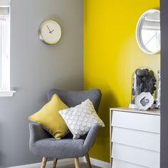 Bedroom Wall Designs, Bedroom Wall Colors, Room Colors, Living Room Designs, Grey Interior Design, Interior Walls, Living Room Paint, Living Room Decor, Diy Bedroom Decor