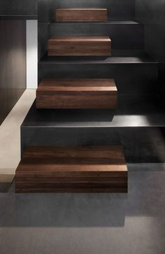 Home Design Modern Staircase At Home Among Wooden Steps Also Concrete Rises Connect Each Levels From Floor Three Storey Contemporary Dwelling in Stylish Appearance