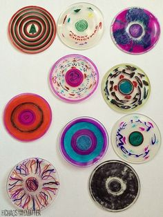 Shrinky Dink Christmas Ornaments made from Plastic Cups