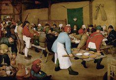 The Peasant Wedding is a 1567 genre painting by the Flemish Renaissance painter and printmaker Pieter Bruegel the Elder, one of his many depicting peasant life. It is currently housed in the Kunsthistorisches Museum, Vienna. Jan Van Eyck, Renaissance Artists, Renaissance Paintings, Pedro Pablo Rubens, Pieter Brueghel El Viejo, Rembrandt Art, Renaissance And Reformation, Lucas Cranach, Pieter Bruegel The Elder