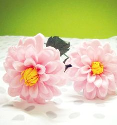 ❤ DIY Dahlia flowers with crepe paper - spring decor ❤Mindy -  craft idea & DIY tutorial collection