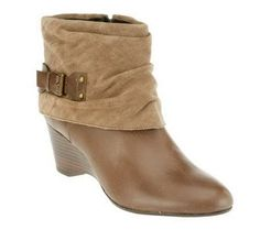 Product image of Clarks Artisan Trolley Twirl Leather & Suede Ankle Boots