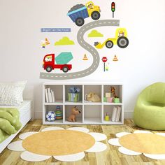 Diggers Fabric Wall Stickers Part 66