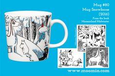 2016 Moomin Winter mug, mug six packs, bowl, minimugs and Moominhouse & Sorry-oo spoons available now! Available as long as stocks. Moomin Mugs, Tove Jansson, Troll, History, Tableware, Spoons, Design, Winter, Interior