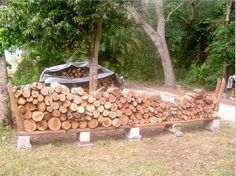 DIY firewood rack with no tools