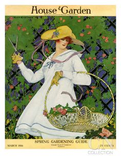 House & Garden Cover - March 1916 Poster Print by Ruth Easton at the Condé Nast Collection