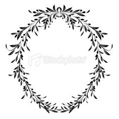 Olive Branches Frame Vector Illustration Royalty Free Stock Vector Art Illustration Pattern Illustration, Botanical Illustration, Olives, Olive Branch Tattoo, Wreath Tattoo, Letter Decals, Olive Branches, Bee Tattoo, Vintage Typography