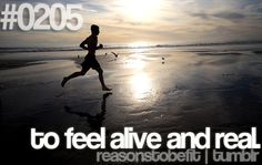 Reason #205 To Be Fit: to feel alive and real.