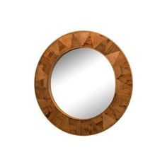 Reclaimed Wood Round Mirror