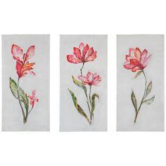 Uttermost Springtime Promise Hand Painted Artwork Set of 3