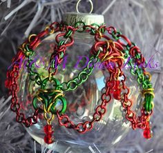 chain maille Christmas Ornaments - A & M Dream Links - Not jewelery exactly, but I wanted to keep all the chainmaille together