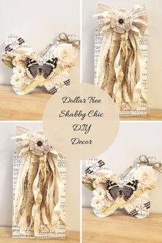 Shabby Chic Journal, Shabby Chic Cards, Shabby Chic Wreath, Shabby Chic Decor, Shabby Chic Artwork, Dollar Tree Decor, Tree Crafts, Book Crafts, Diy Crafts